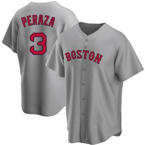 Men's Boston Red Sox Jose Peraza Replica Gray Road Jersey