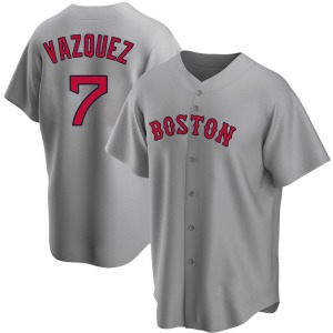Youth Boston Red Sox Christian Vazquez Replica Gray Road Jersey
