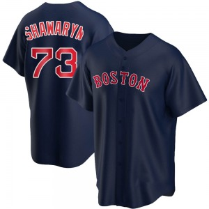Youth Boston Red Sox Mike Shawaryn Replica Navy Alternate Jersey