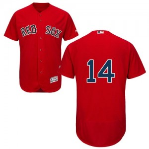 Men's Majestic Boston Red Sox Jim Rice Authentic Red Flexbase Collection Jersey