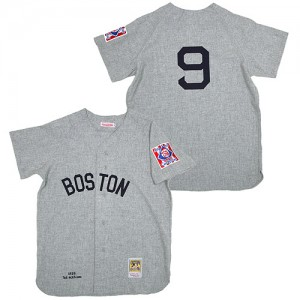 Men's Mitchell and Ness Boston Red Sox Ted Williams Authentic Grey 1939 Throwback Jersey